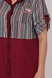 Платье-рубашка Лана бордо, фото 4