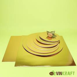 Подложки для торта 1 мм золото-серебро