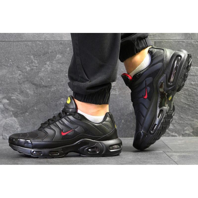 6fec80f7 Мужские кроссовки Nike TN Air Max Plus черные с красным р.42 Акция -48