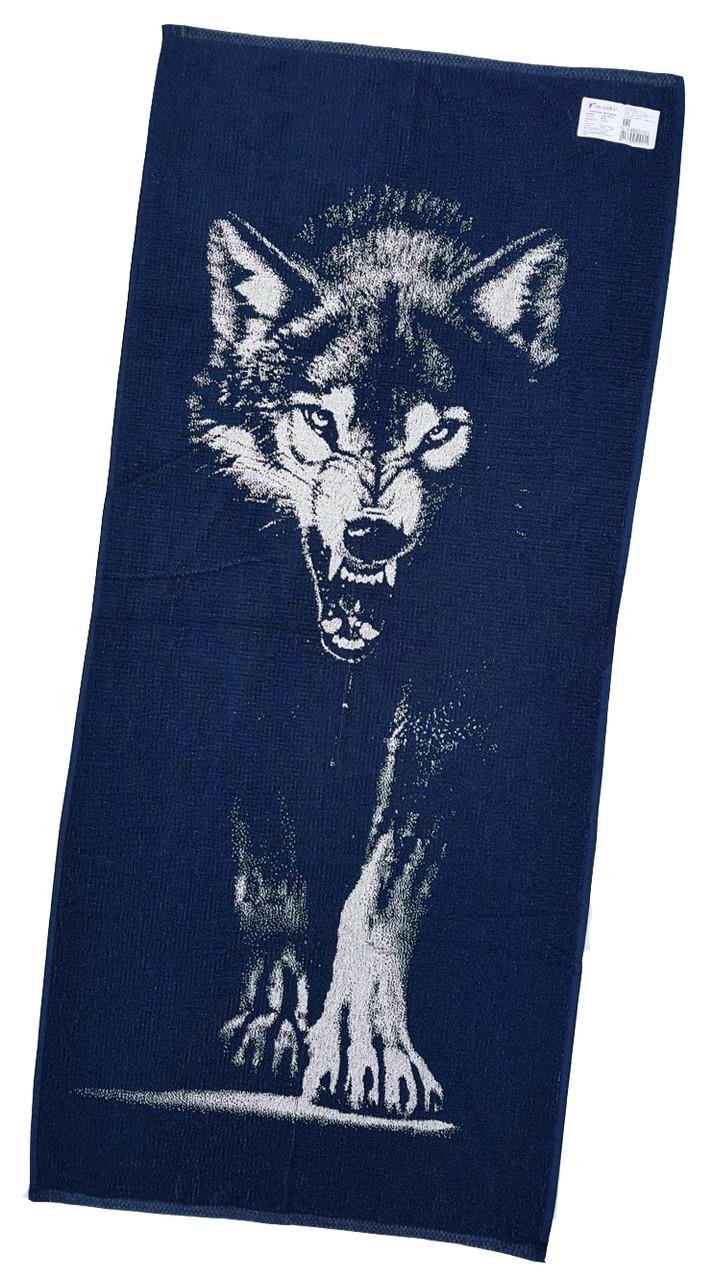 """Полотенце махровое """"Волк"""" 67*150"""