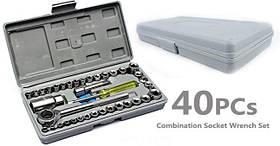 Набор торцевых головок инструментов AIWA в коробке 40 шт.