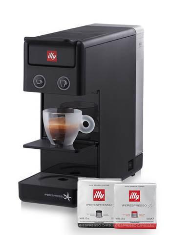 Уцінка! Капсульна кавоварка ILLY 3.3 Black + 14 капсул у подарунок