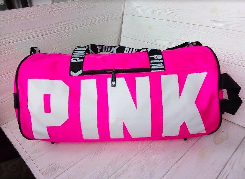 Сумка дорожная, спортивная розовая женская Pink Victoria's Secret 1593