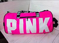 Сумка дорожная, спортивная розовая женская Pink Victoria's Secret 1593, фото 1
