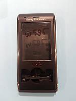 Корпус на мобильный телефон Sony Ericsson W595 черного цвета. НОВЫЙ