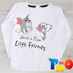 """Детский батник """"JERRY & TOM"""" из трикотажа, для мальчиков 4-5/5-6/6-7/7-8 лет (4 ед в уп)"""