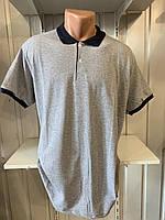 Футболка мужская COLORHAKAN поло комбинированная, размеры 3XL-6XL,006 \ купить футболку мужскую оптом