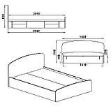 Двоспальне ліжко Ніжність -160 Комп, фото 3