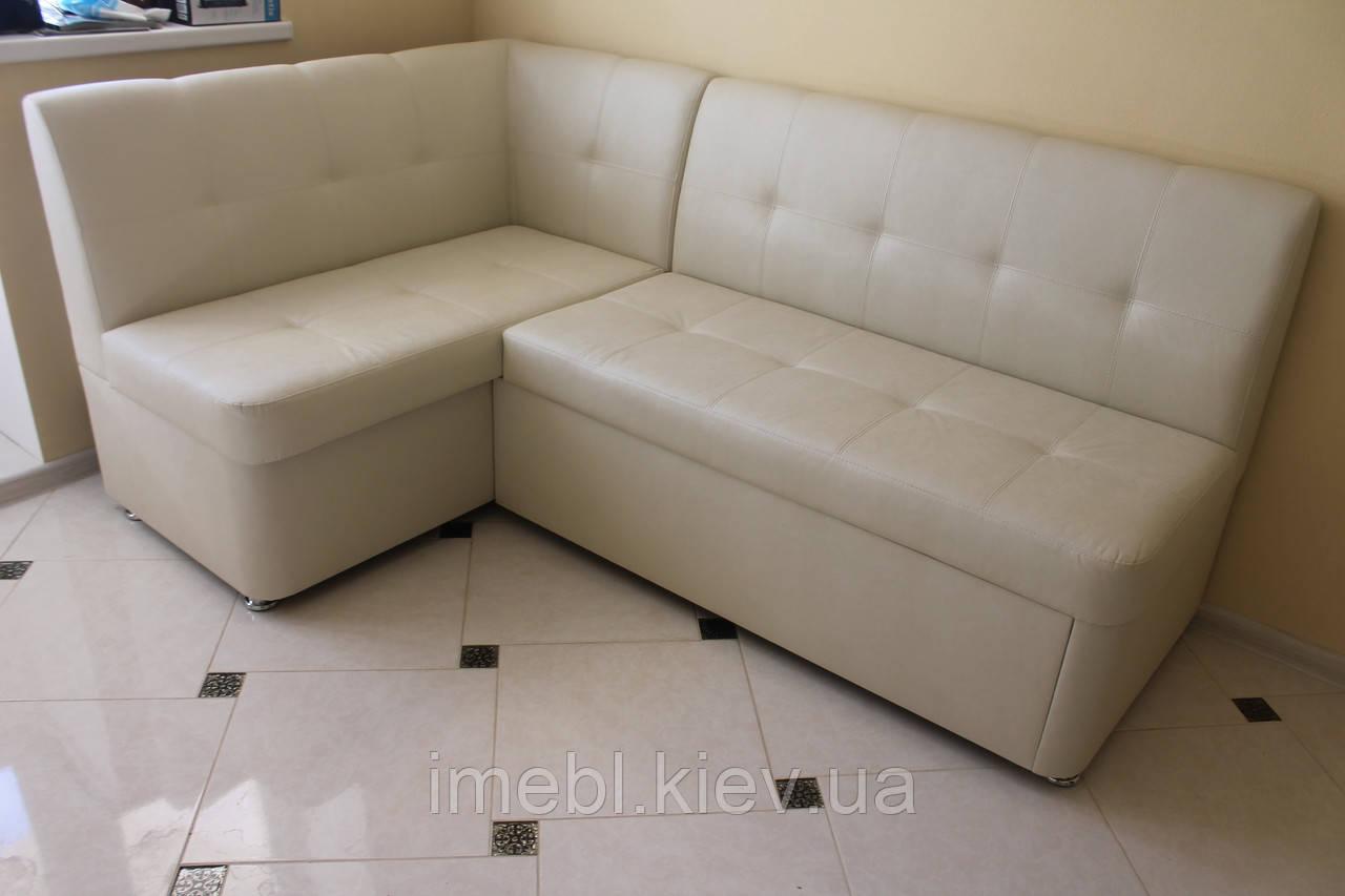 Комфортабельный кухонный мягкий уголок со спальным местом (Молочный)