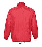 Ветровка SOL'S, красная водонепроницаемая ветровка, фото 2