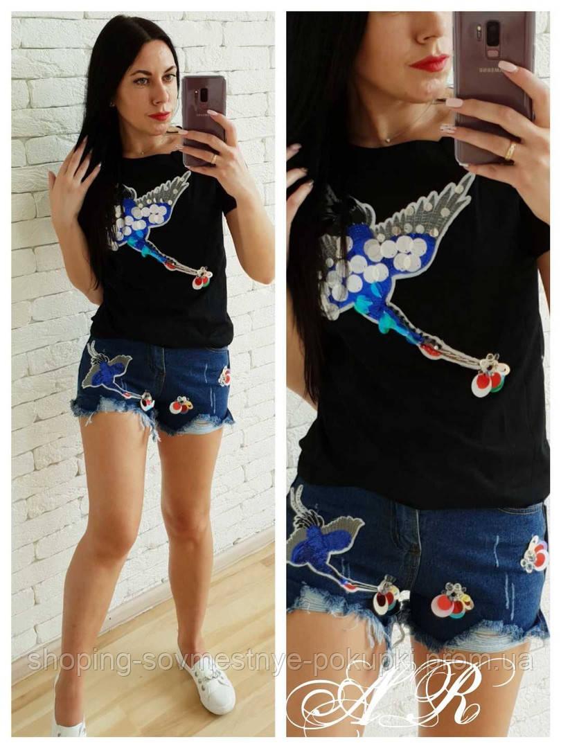 77f5ca304664f8 Джинсовый Костюм джинсы+футболка с Птицей 42 44 46 48 купить в ...