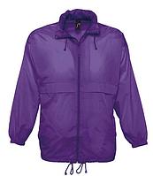 Ветровка SOL'S, фиолетовая водонепроницаемая ветровка