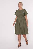 Летнее платье Мелисса оливка, фото 1