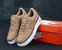 Кроссовки женские в стиле Nike Air Force 1  Brown (Реплика ААА+), фото 1