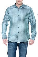 Мужские рубашки Gelix 1267002 в клетку зеленые