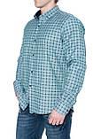 Мужские рубашки Gelix 1267002 в клетку зеленые, фото 3