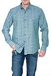 Мужские рубашки Gelix 1267002 в клетку зеленые, фото 2