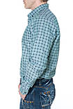 Мужские рубашки Gelix 1267002 в клетку зеленые, фото 4