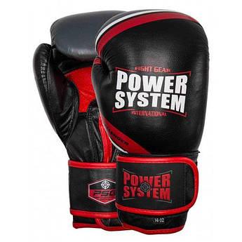 Перчатки для бокса PowerSystem PS 5005 Challenger Black-Red 10 oz - 145000