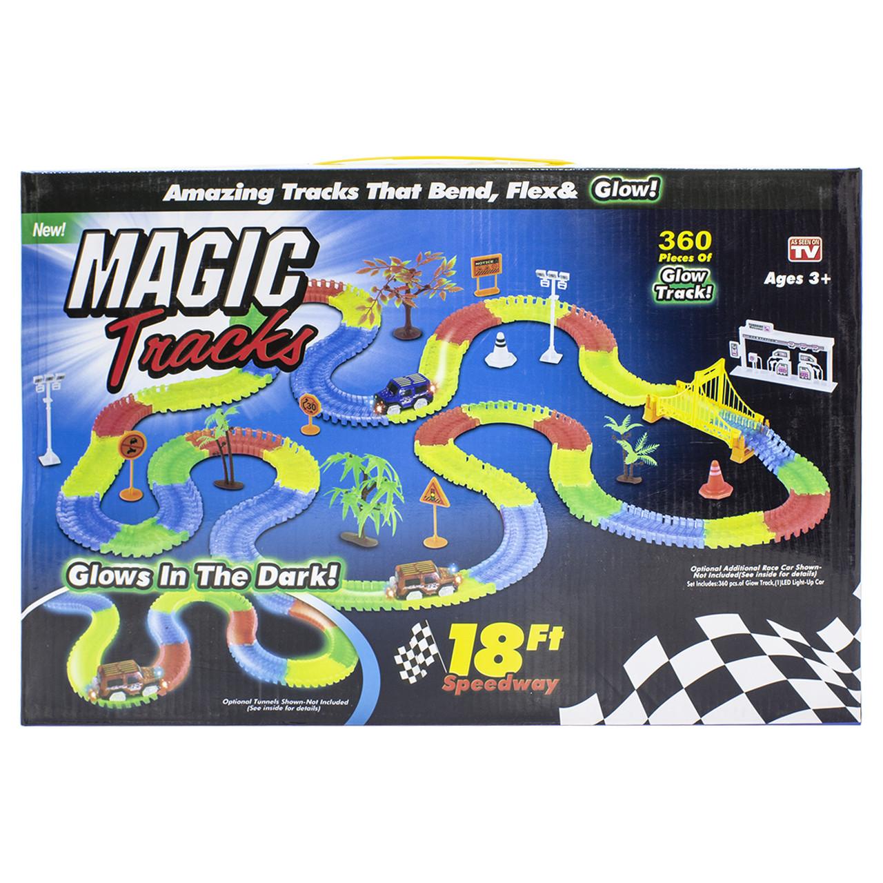★Гонки Magic Tracks 360 деталей трасса с подсветкой игры для детей гоночный трек конструктор 1 машинка