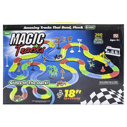 ★Гонки Magic Tracks 360 деталей трасса с подсветкой игры для детей гоночный трек конструктор 1 машинка, фото 2