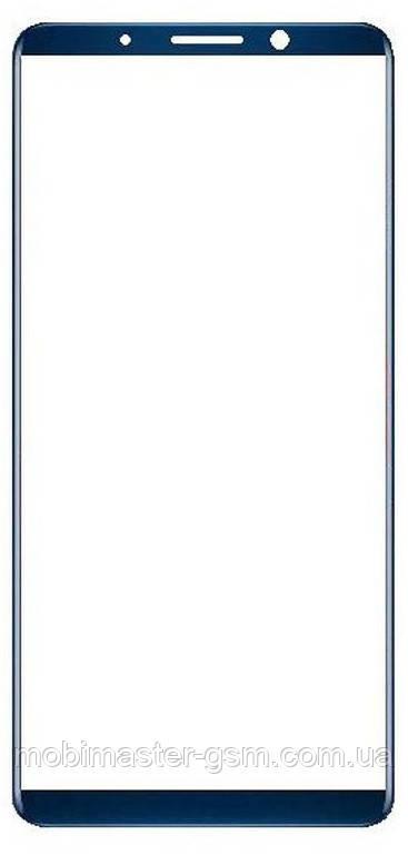 Корпусное стекло на Huawei Mate 10 Pro blue