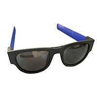 Спортивные солнцезащитные очки-браслет, синие - 146013