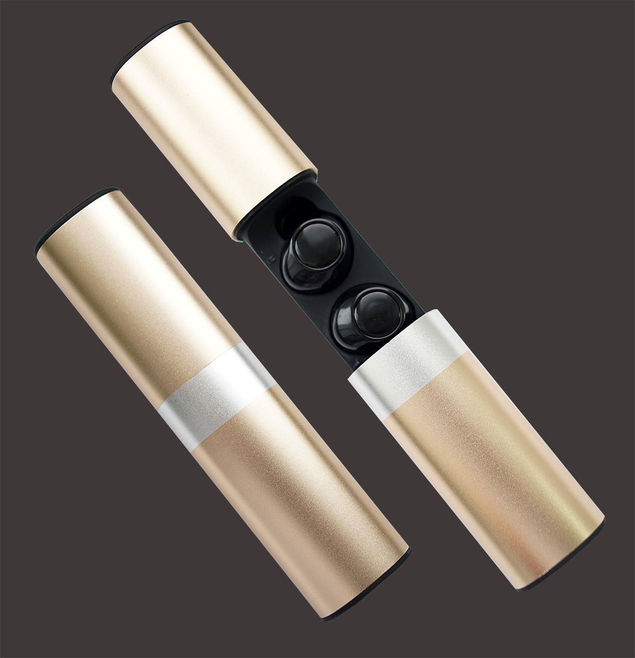 Wi-pods S2 Bluetooth наушники беспроводные водонепроницаемые с зарядным чехлом-кейсом GOLD