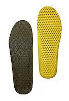 Стелька формованная 40-45 соты Черная кроссовочная обрезная