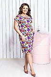 Шикарна жіноча легке літнє плаття,тканина супер софт,розміри:50,52,54,56., фото 2