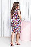 Шикарна жіноча легке літнє плаття,тканина супер софт,розміри:50,52,54,56., фото 4