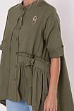 Рубашка женская Уля  оливка, фото 5