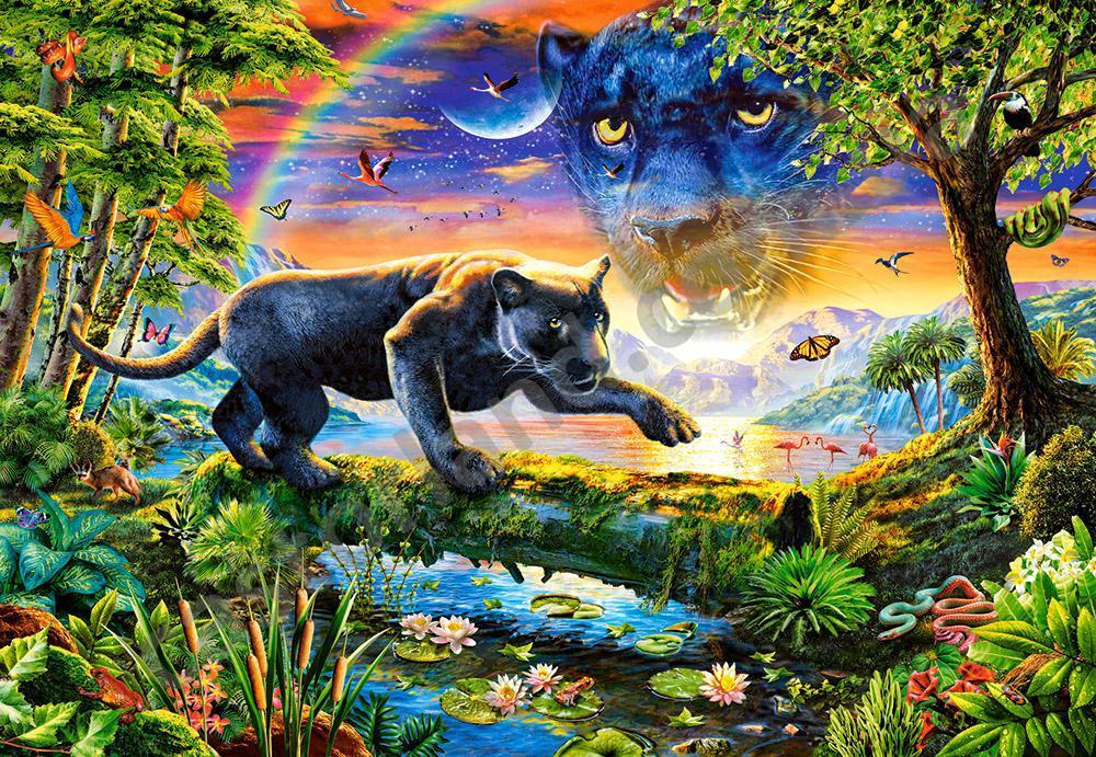 Пазлы Пантера в сумерках 1500 Элементов