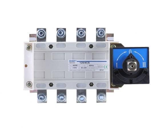 Перекидной рубильник NH40-1250/3, 3Р, 1250А, 3 положения I-0-II Chint, фото 2