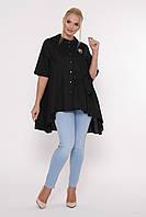 Рубашка женская Уля  черная, фото 1