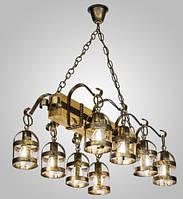 Люстра кантри фонари AR-004695 подвесная деревянная, фото 1