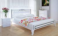 Деревянная кровать Осака люкс 140х190 см ТМ Meblikoff