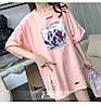Объемная женская футболка на лето (в расцветках), фото 4