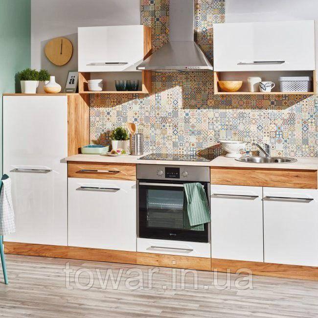 Мебель для кухни DEFTRANS DOUBLE 2,6м дуб золотой/белый
