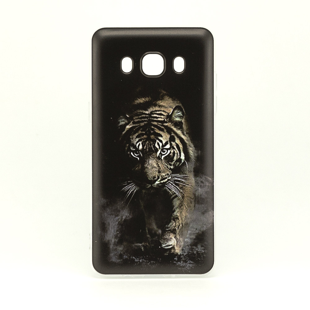 Чехол Print для Samsung J7 2016 J710 J710H силиконовый бампер Black Tiger
