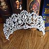 Корона и серьги, свадебная диадема и свадебные серьги, набор ЭЛИЗАБЕТ, фото 5