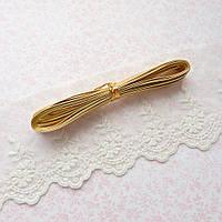 Ремень для кукол, отрез 50 см, ширина 3 мм - золото