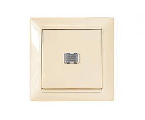 """Выключатель 1 кл, 10 А, С/К, со световым индикатором, """"Стиль"""" BYLECTRICA (02-51-07) шт."""