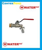 Кран Шаровой Водоразборной 1/2 Water Pro DN 15 PN 20, фото 1