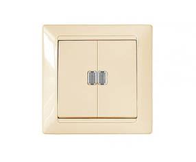 """Выключатель 2 кл, 10 А, С/К, со световым индикатором, """"Стиль"""" BYLECTRICA (02-51-09) шт."""