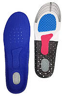 Устілка кроссовочная Синя з силіконовою п'ятою і супінатором чоловічі 40-44