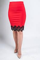 Поспішайте. Акційна ціна 277 грн на модель спідниці Одрі у червоному кольорі!!!