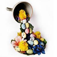 Пасхальные украшения на пасху Парящая чашка с пасхальным декором Ручная работа