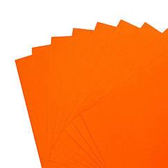 Цветной картон 50 х 70 см 230 г/м2, оранжевый