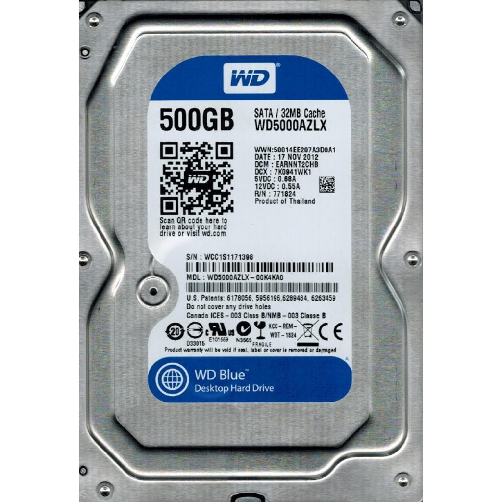 "Жесткий диск 3.5"" 500Gb Western Digital (WD5000AZLX) ."